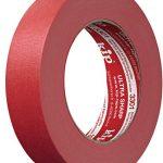 kip Tape 3301 Ultra Sharp Abklebeband – Professionelles Malerkreppband für ultra scharfe Kanten beim Streichen & Lackieren – 24mm x 50m, rot, 24 mm x 50 m